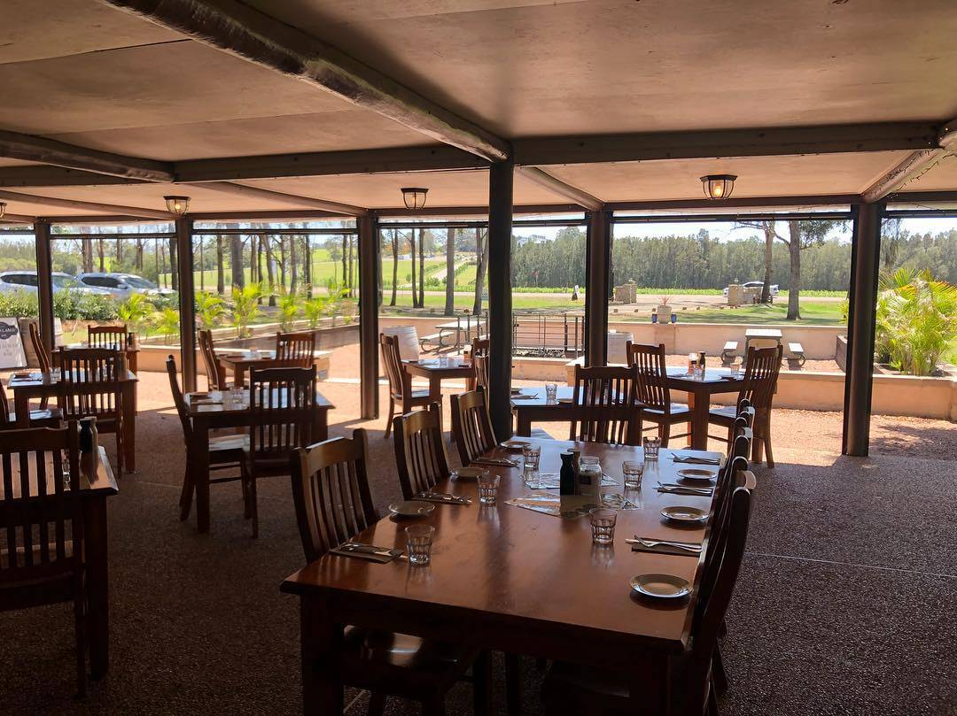 Beautiful view from Blaxland Inn Hunter Valley Restaurant Hunter Valley Winery