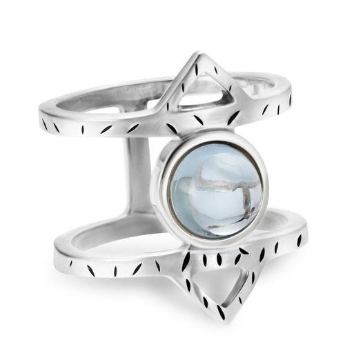 Кольцо Athena - Голубой топаз