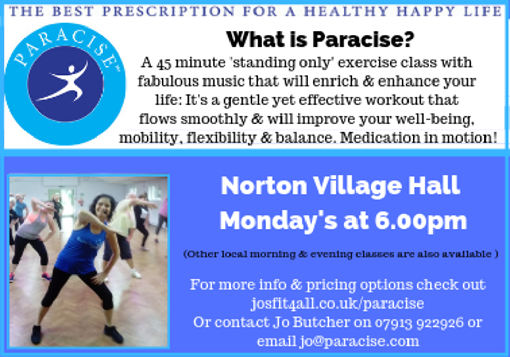 Jo Butcher's new Paracise classes now open ! logo