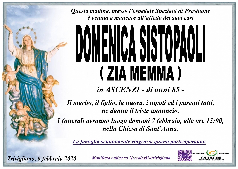 Domenica Sistopaoli (Zia Memma)