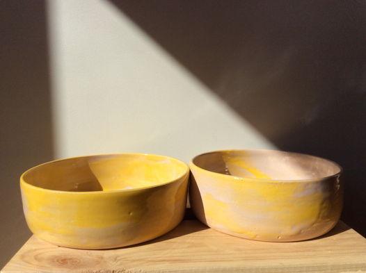 Желто-розовые глубокие тарекли
