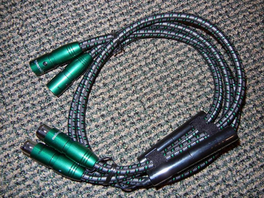AudioQuest Columbia Pair 48V DBS XLR 1 Meter Interconnect