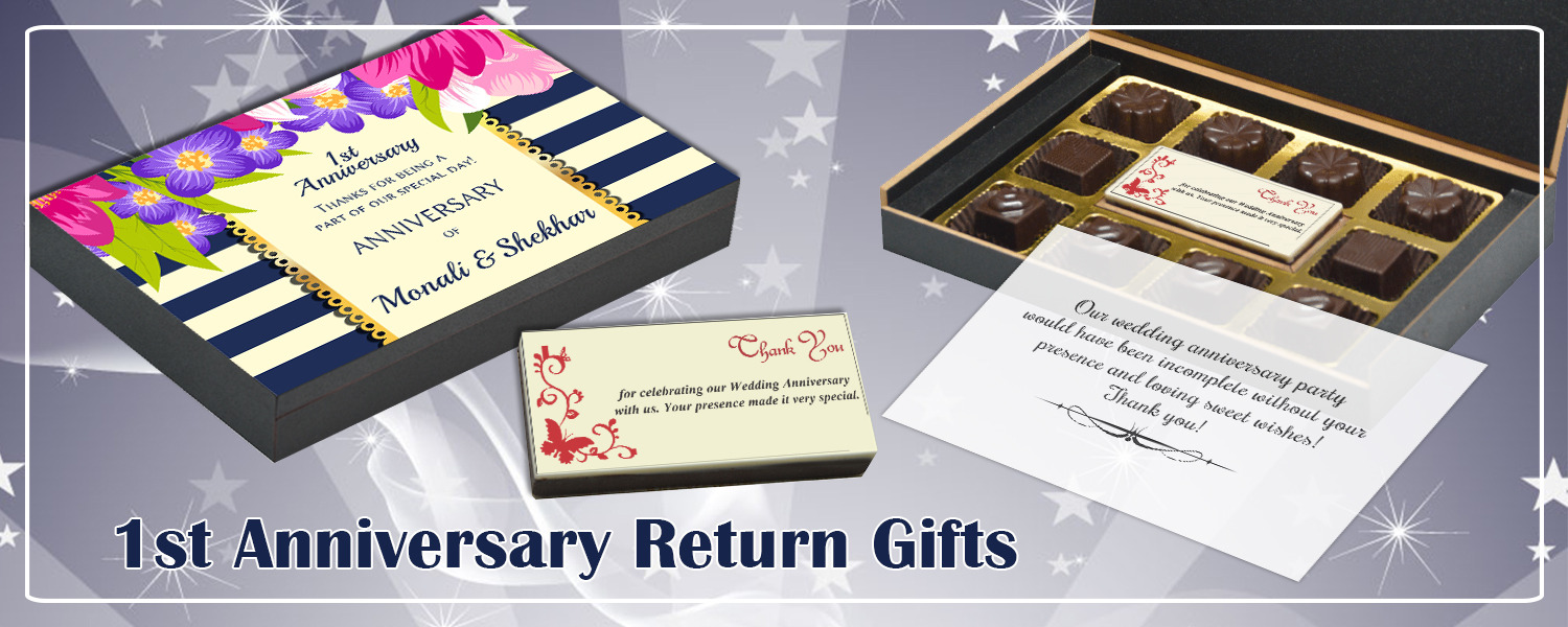 so it is a great idea to thank those that have joined you in your celebration with a return gift
