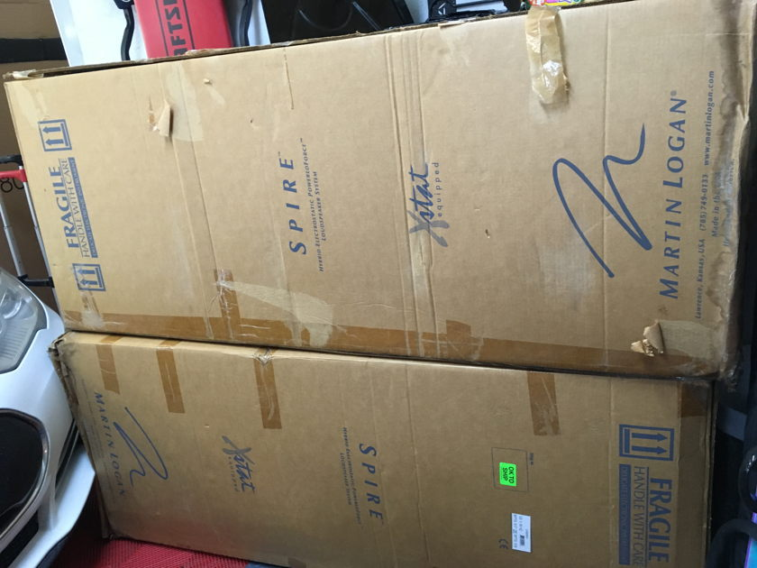Martin Logan Spire Electrostatic Speakers  Mint in Boxes $8500 MSRP