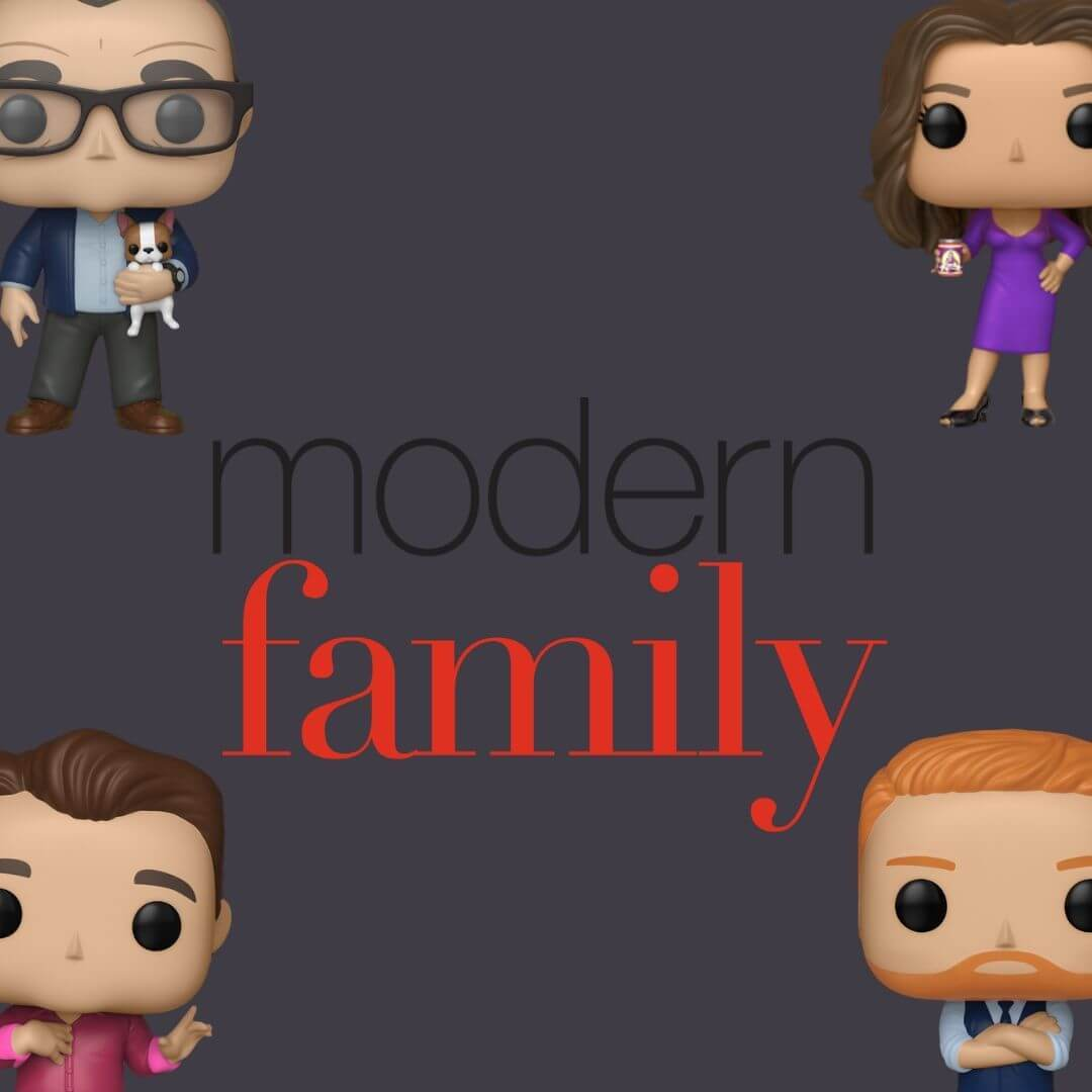 1000-3000, Bobble head, bobble-heads, Claire, funko, Modern Family, TV- Series, Phil, jay, Cam, Mitch