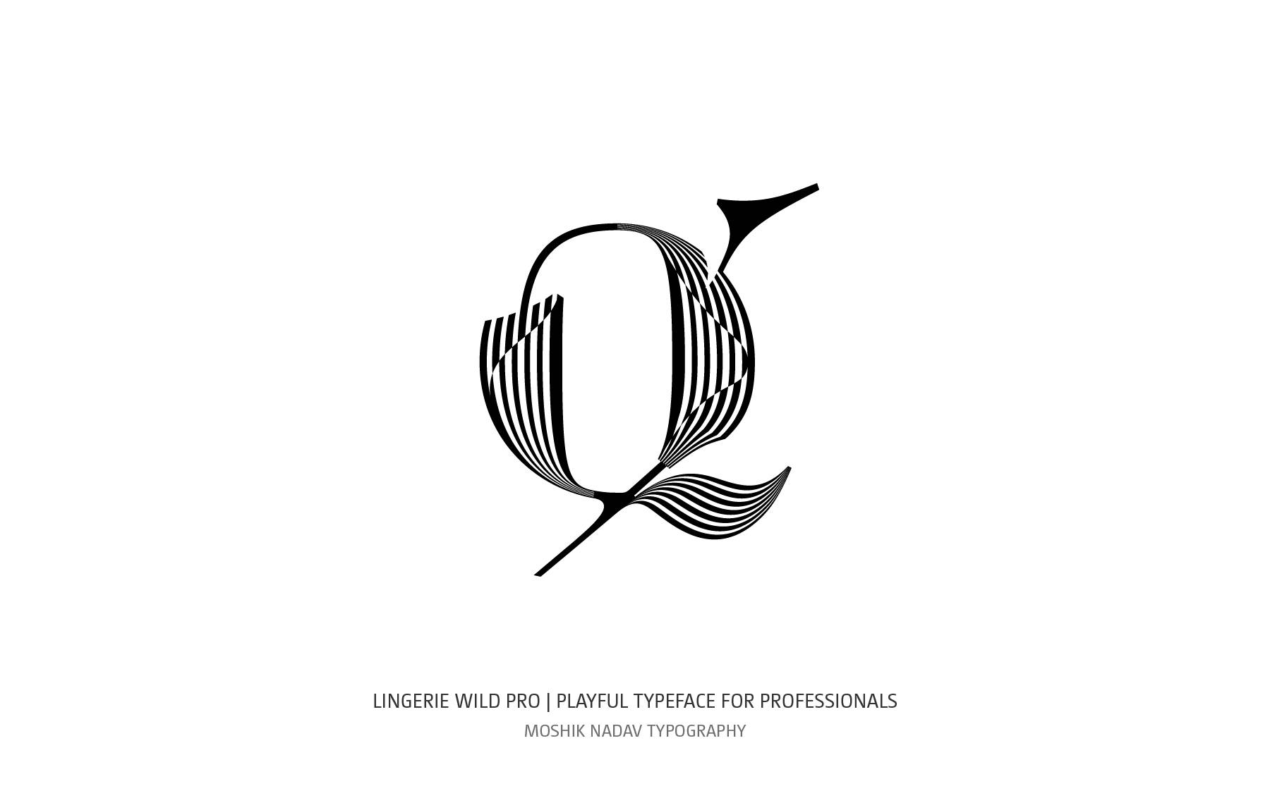 Cool lowercase q designed for fashion and luxury brands by Moshik Nadav Typography