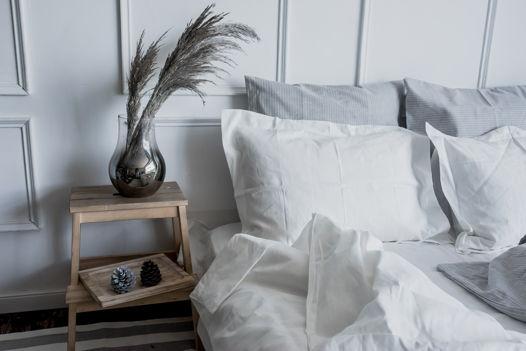 БЕЛЫЙ набор постельного белья из 100% льна