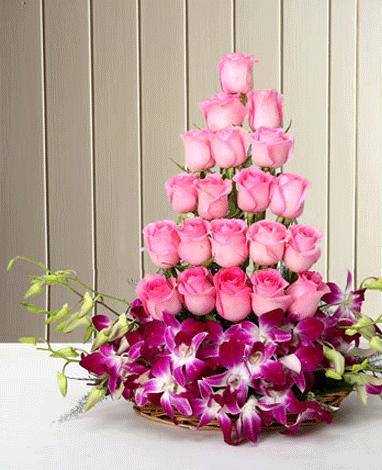 HF Mix Pink Basket