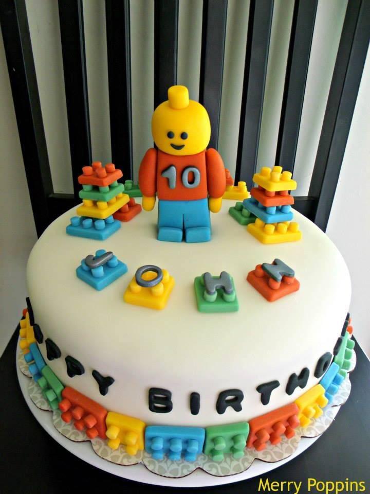 LEGO Cake with Fondant