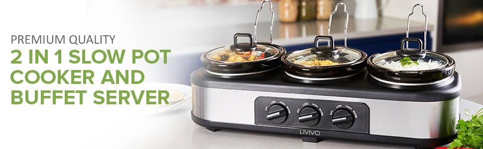 Slow Pot Cooker & Buffet Server