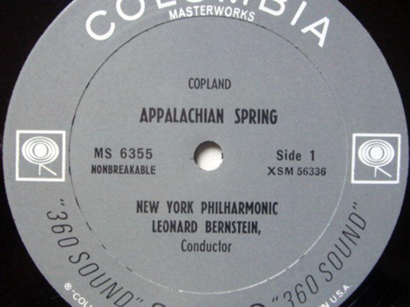 Columbia 2-EYE / LEONARD BERNSTEIN,  - Copland El Salon Mexico, Appalachian Spring, MINT!