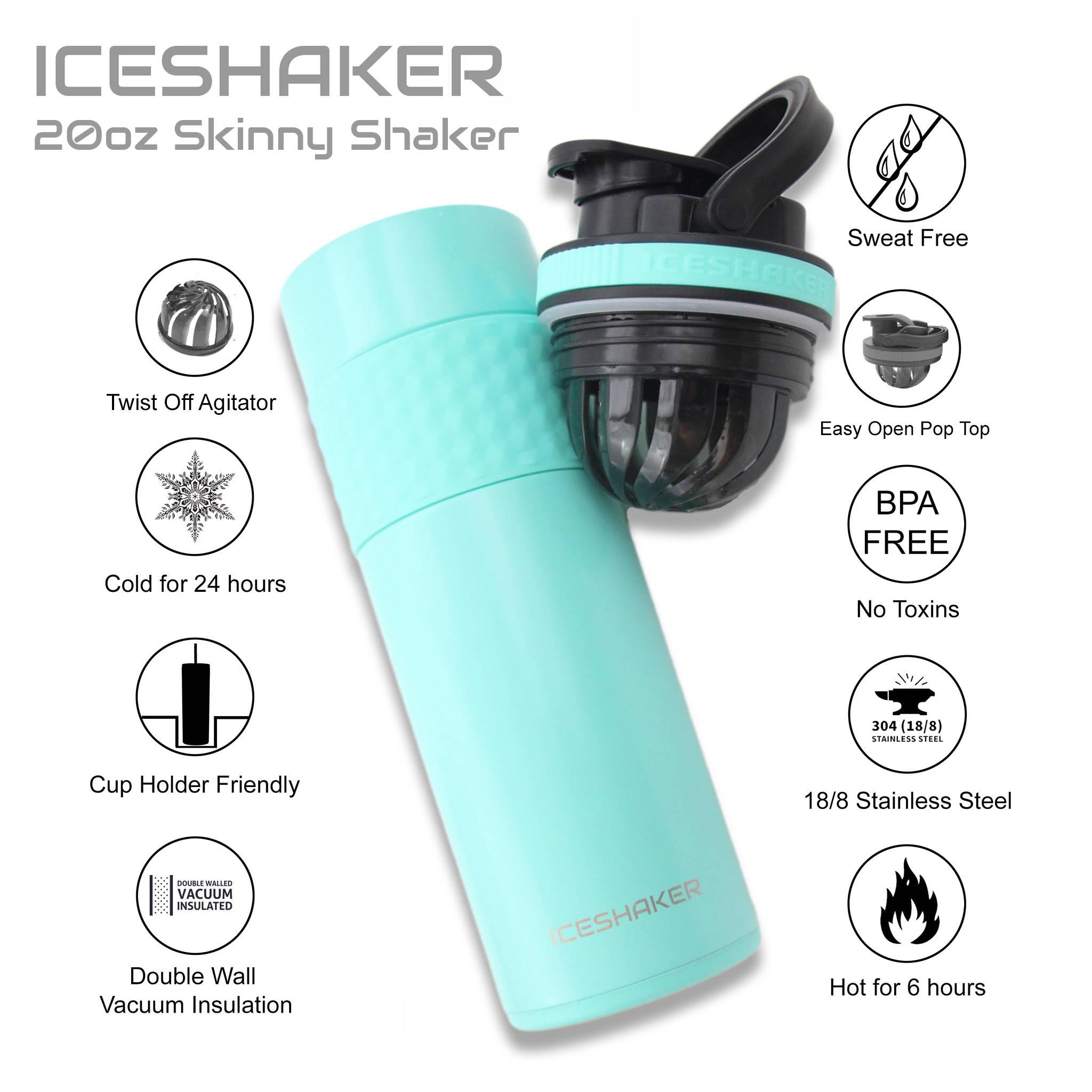 Ice Shaker 20oz Black Skinny Steel Tumbler