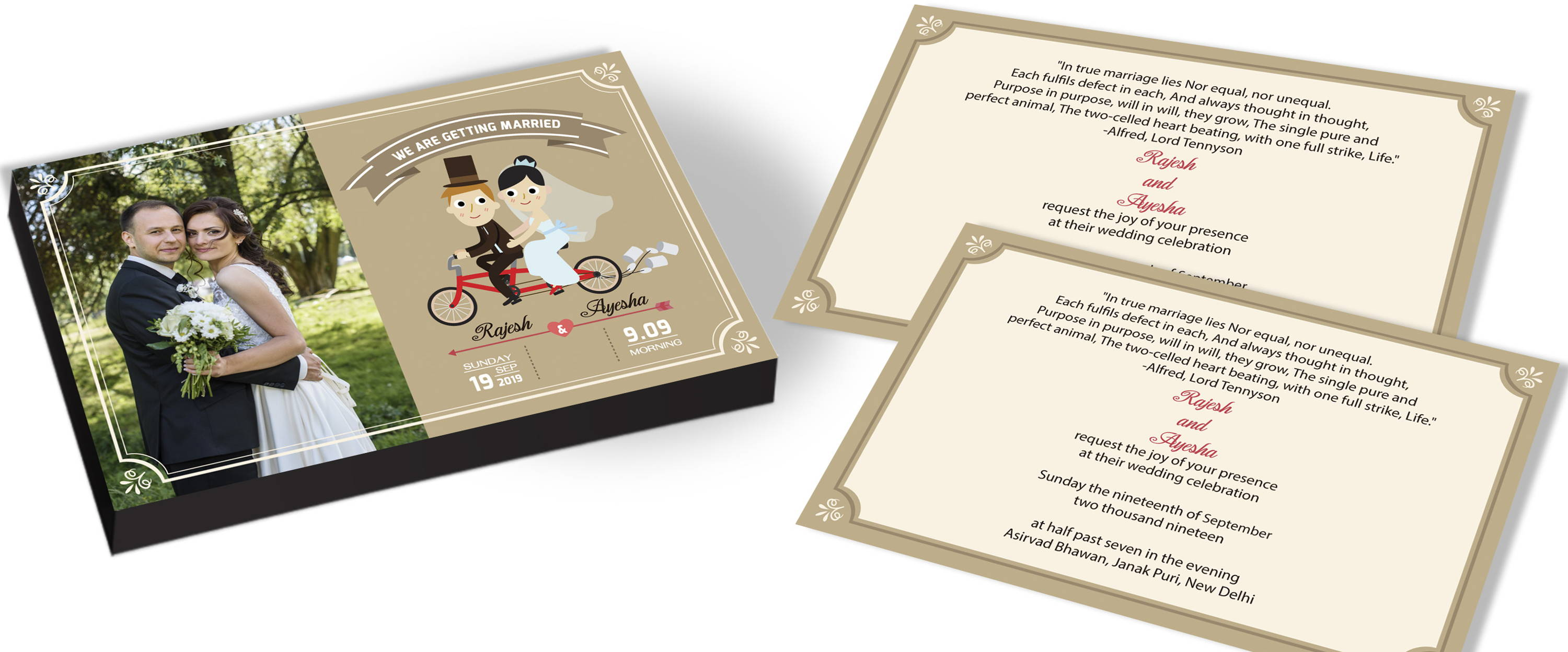 Best Modern Marriage Invitation