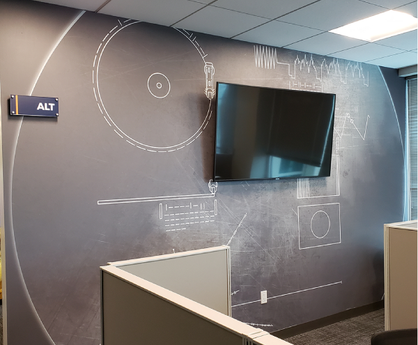 Interior Vinyl Wall Wrap -  Blackboard Wall Wrap