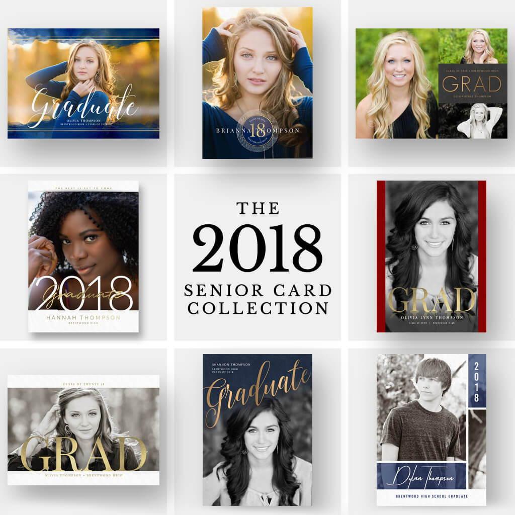 2018 Senior Graduation Card Photoshop Templates