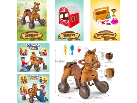 Rideamals Scout Pony Interactive Ride-On Toy by Kid Trax