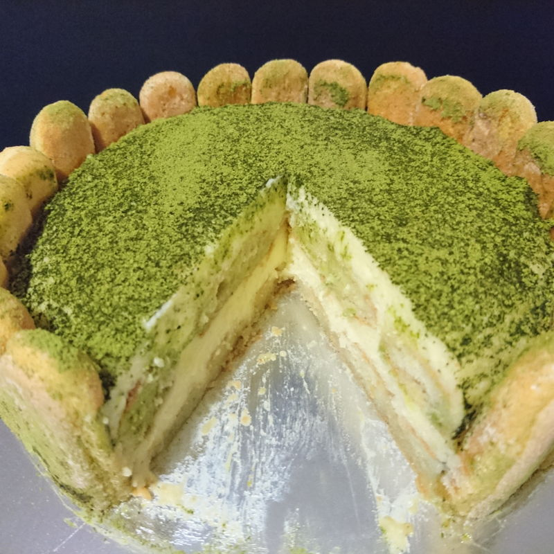 Date: 6 Dec 2019 (Fri) 7/8 of Matcha Tiramisu Cake.