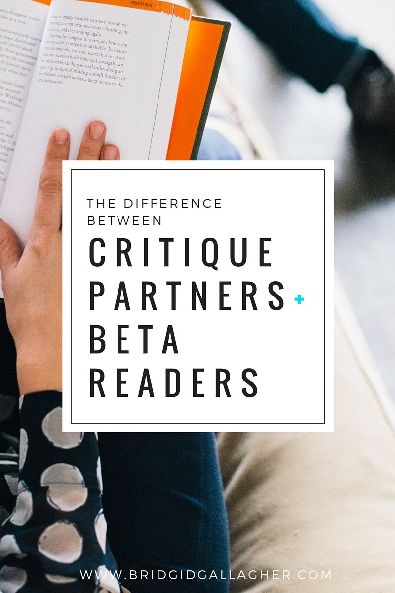 Bridgid Gallagher - The Difference Between Critique Partners and