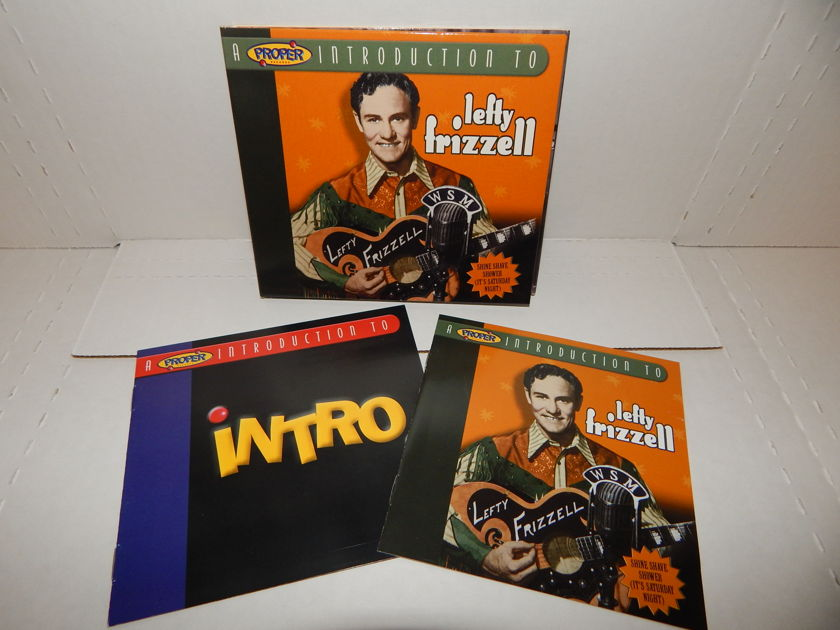 LEFTY FRIZZELL Introduction to - Shine Shave Shower (It's Saturday Night)  Compilation UK Proper & Inserts CD