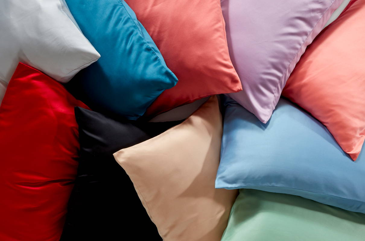 sleep zone bedding website store products collections  luxe norishing satin pillowcase colorful