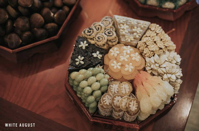 KOREAN TRADITIONAL PAEBAEK TEA CEREMONY FOODS