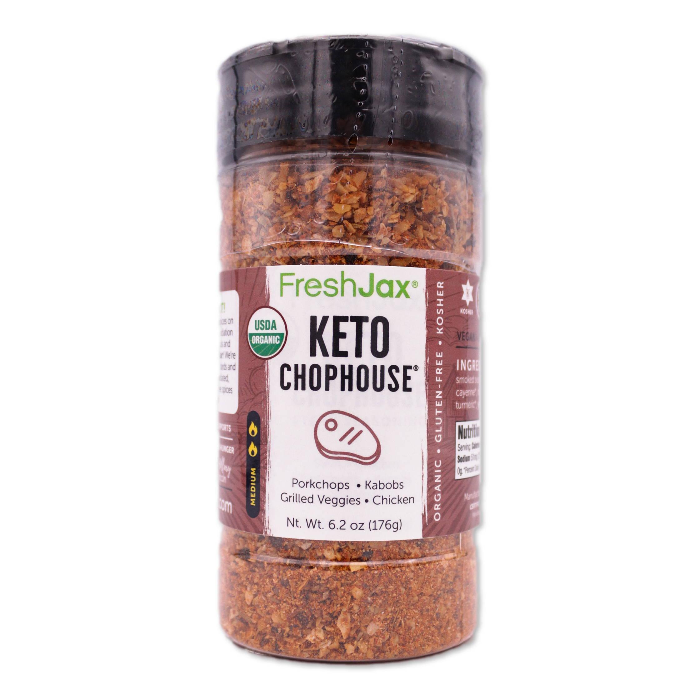 FreshJax Organic Spices Keto Chophouse Steak Seasoning large bottle