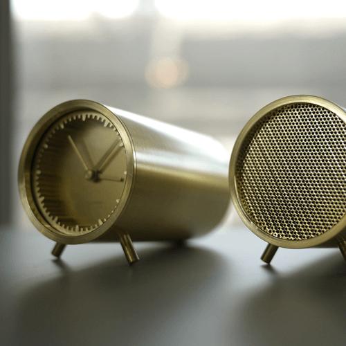 Leff Tube Clock and Speaker