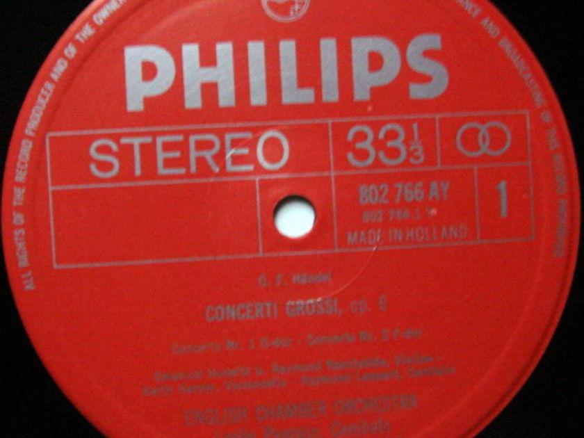 Philips / LEPPARD, - Handel 12 Concerti Grossi Op.6, MINT, 3LP Box Set!
