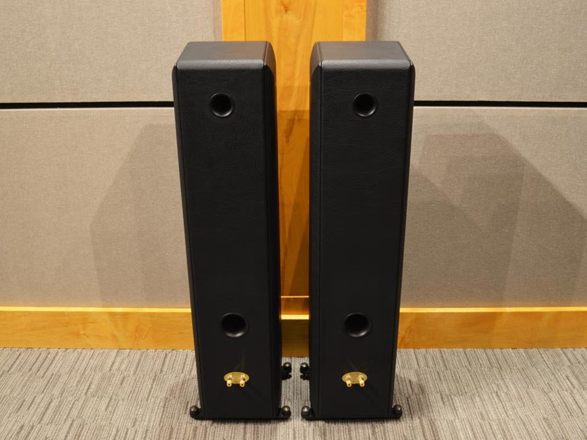 Sonus Faber Toy Tower - Black Leather Finish