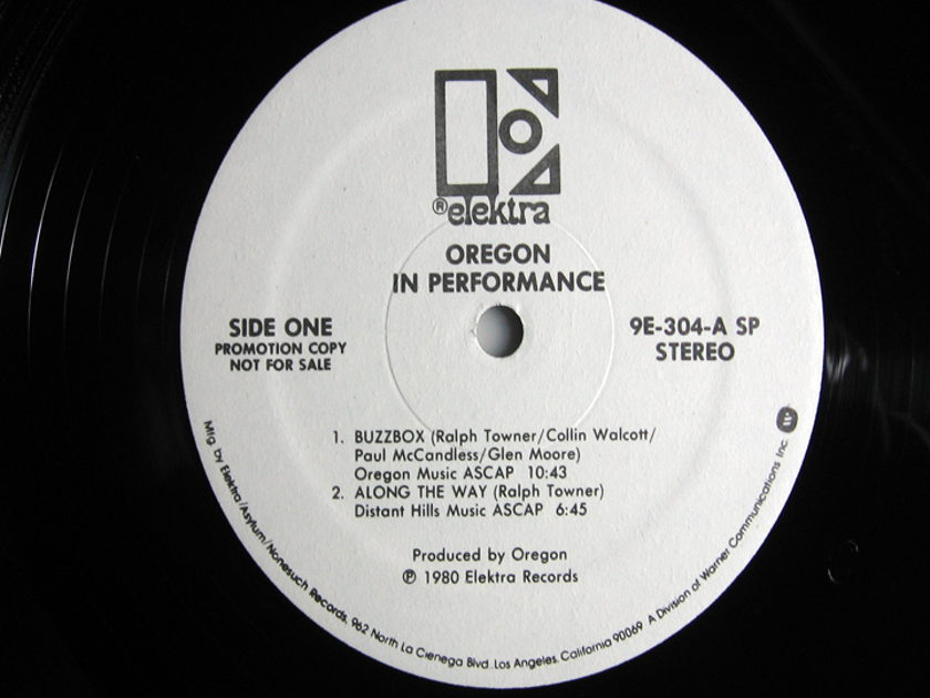 Oregon -  In Performance - White Label Promo - Rob Ludwig Mastered 2X LP 1980 Elektra 9E-304