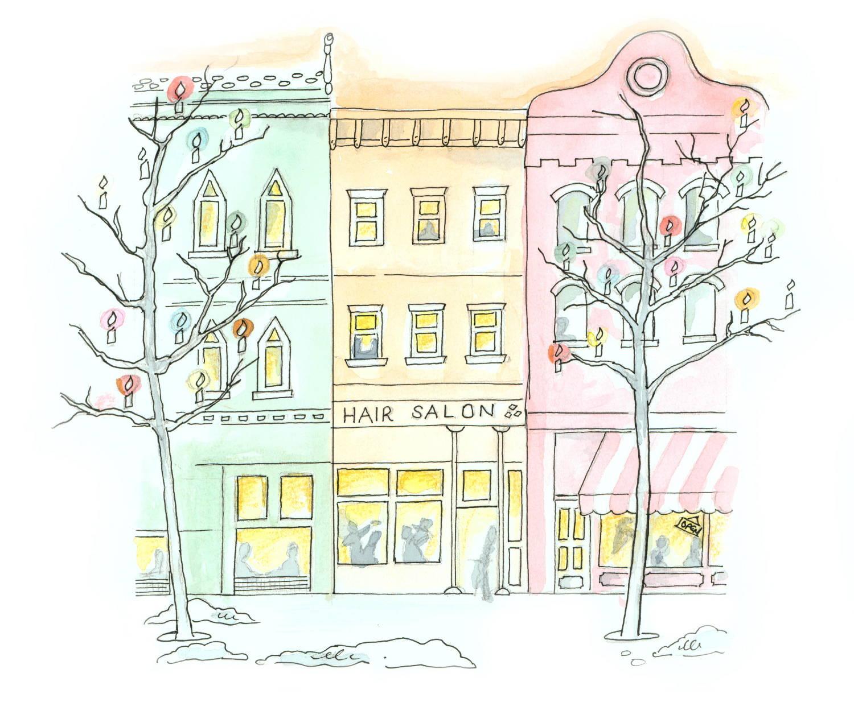 Holiday cartoon drawing