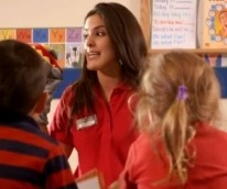 Close up of a Primrose teacher interacting with her students