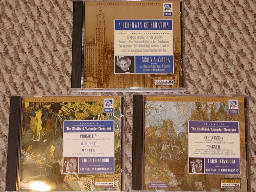 3 Sheffield Gold CDs - Leinsdorf, Mayorga