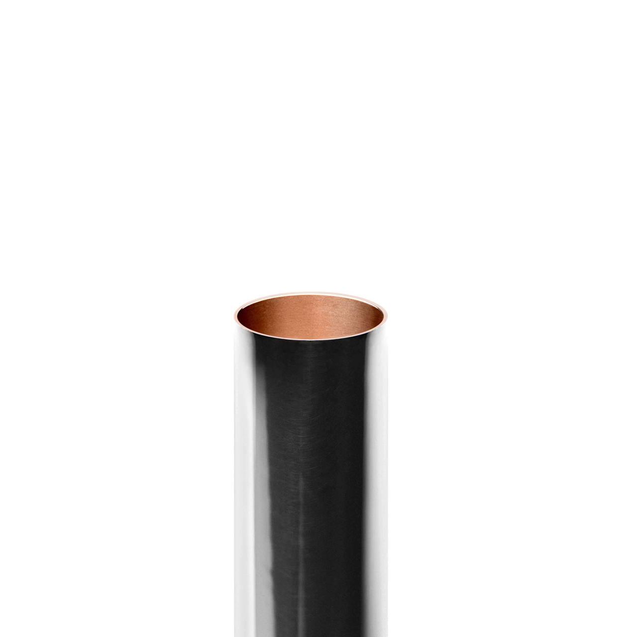 Silver Pill Tube inside copper detail