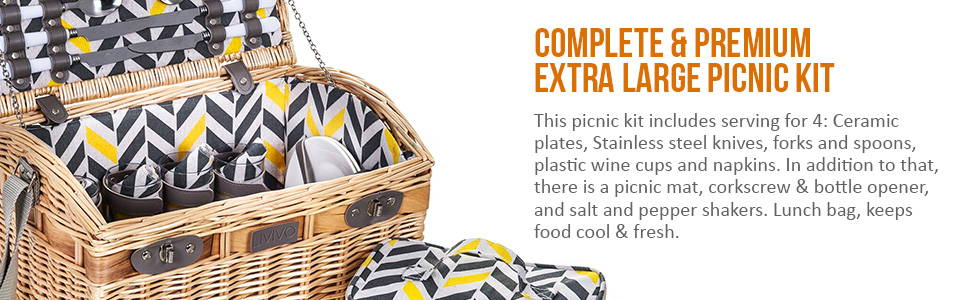 Complete and Premium Picnic Kit
