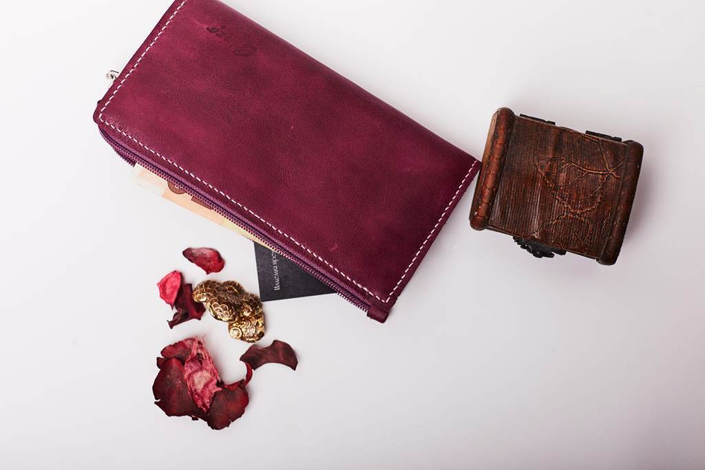 Женский кошелек -TOFFEE- цвет Ploom