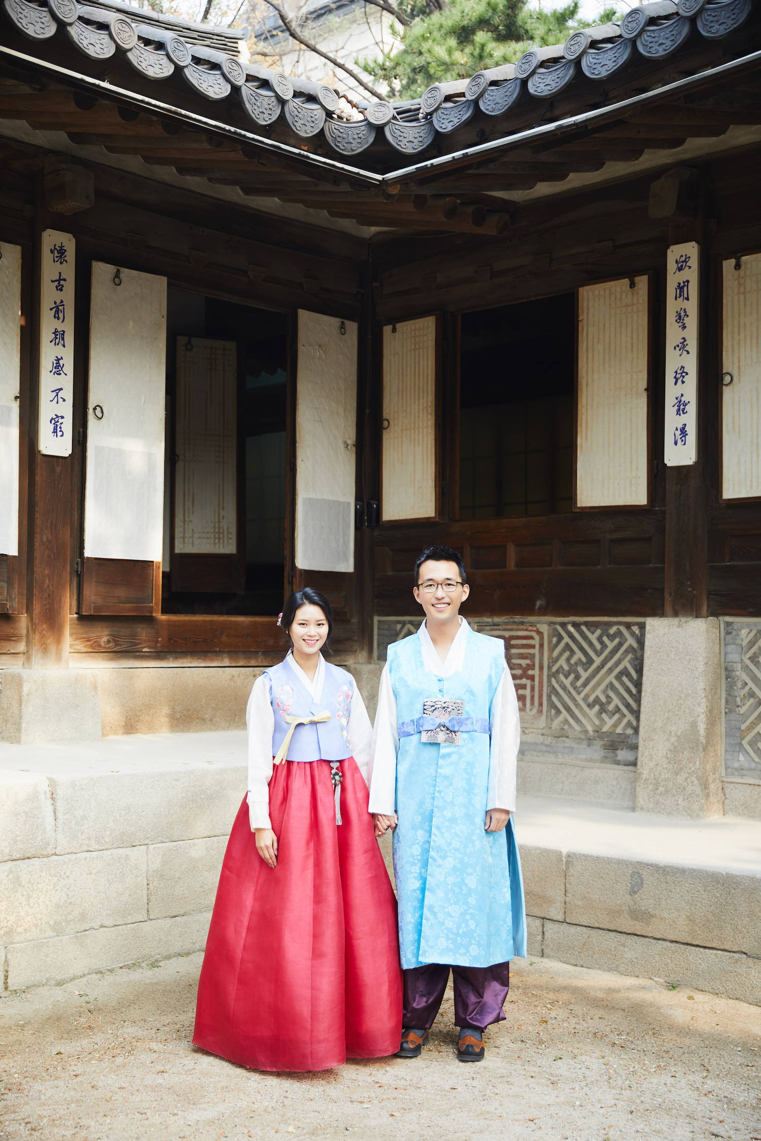 Couture bridal hanbok with jeogori