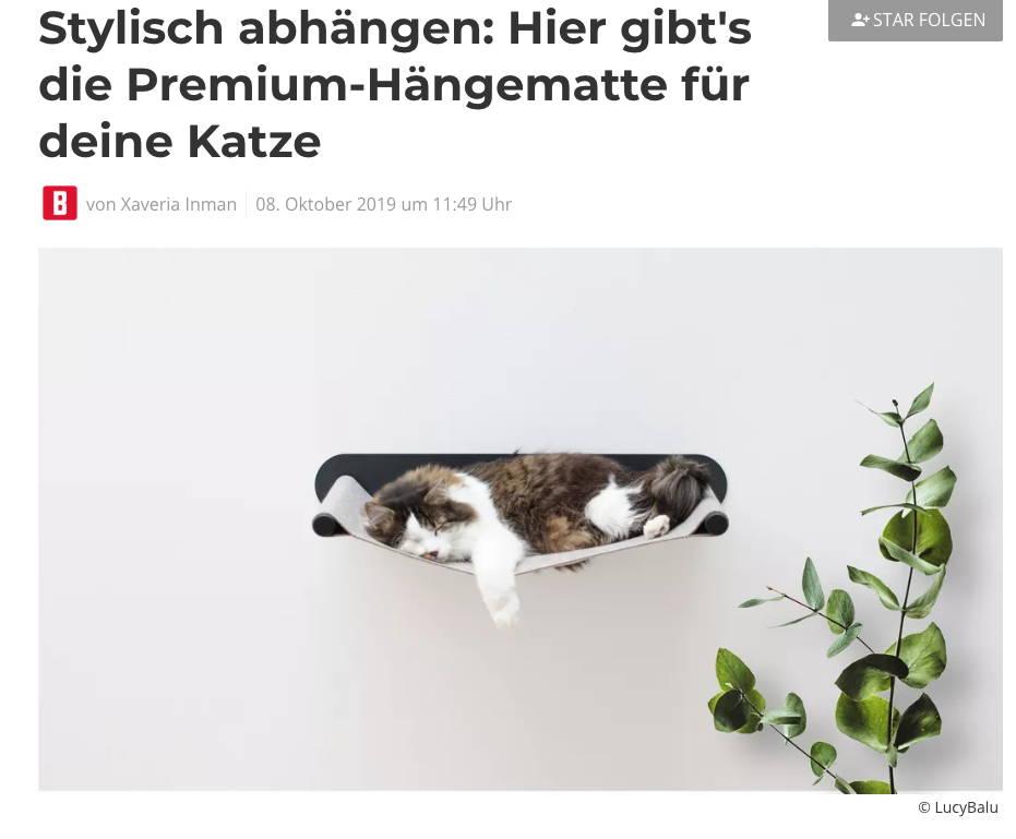 Artikel bei Bunte.de über LucyBalu