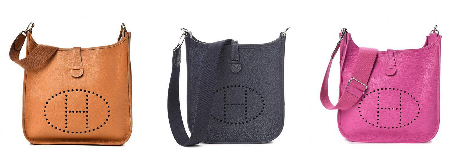 Hermes Evelyn bags in 3 colors