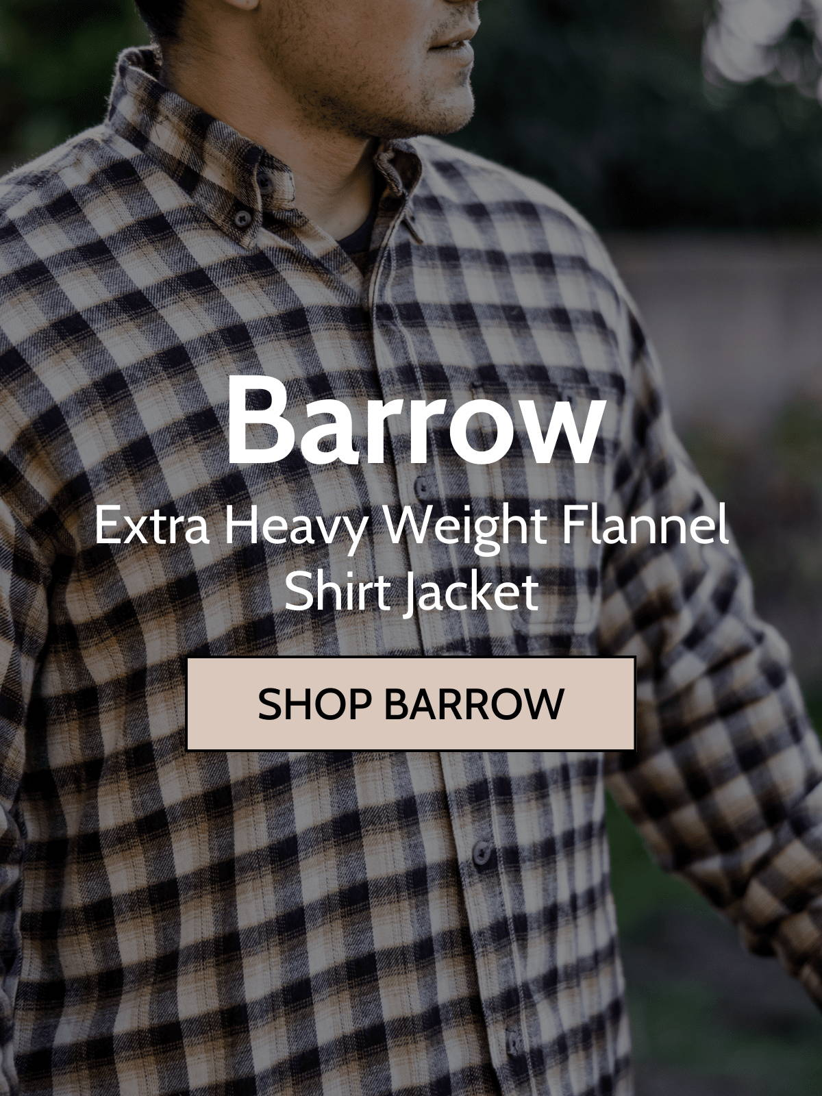 Man wearing barrow shirt jacket