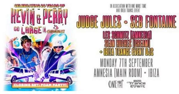 fiesta 20 aniversario Kevin & Perry en Amnesia Ibiza