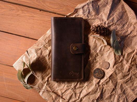 Кожаное портмоне -ESQUIRE- с отделение для телефона цвет Шоколад