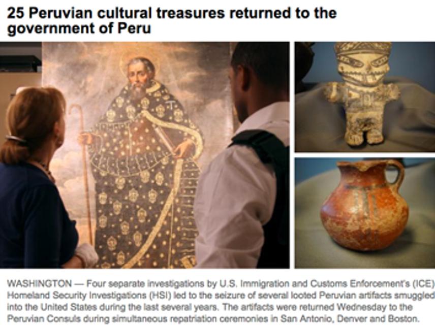 Peruvian, Cultural Treasures