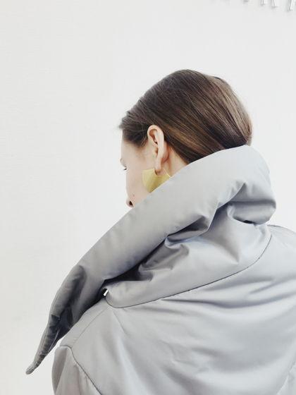 Утеплённое Серое пальто