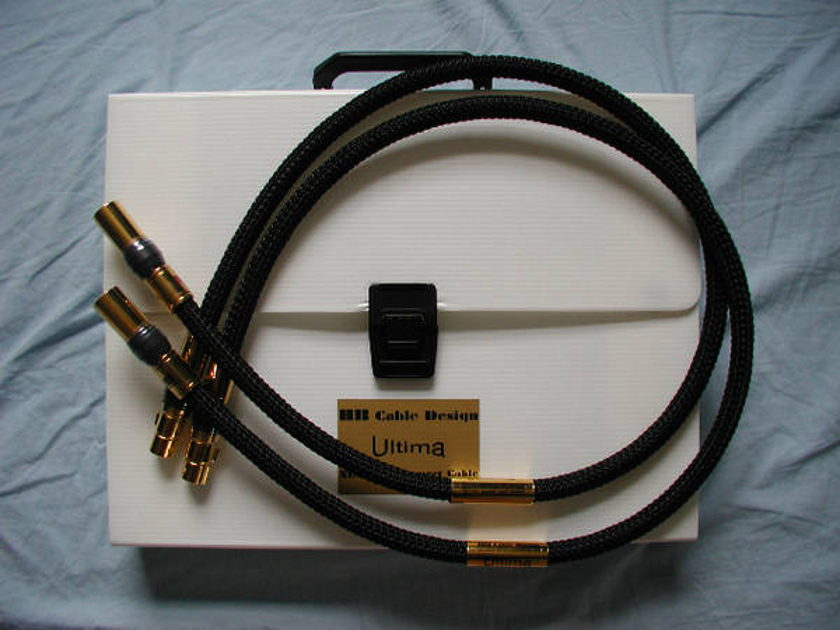 Hb Cable Design XLR, 1M free world-wide shipping
