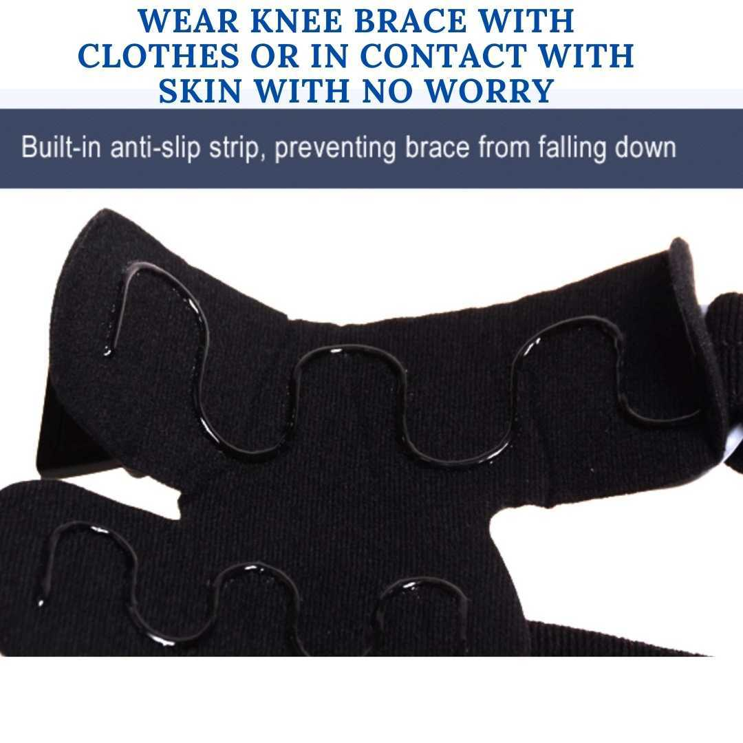 comfyorthopedic oa unlaoder knee brace built with anti slip lining