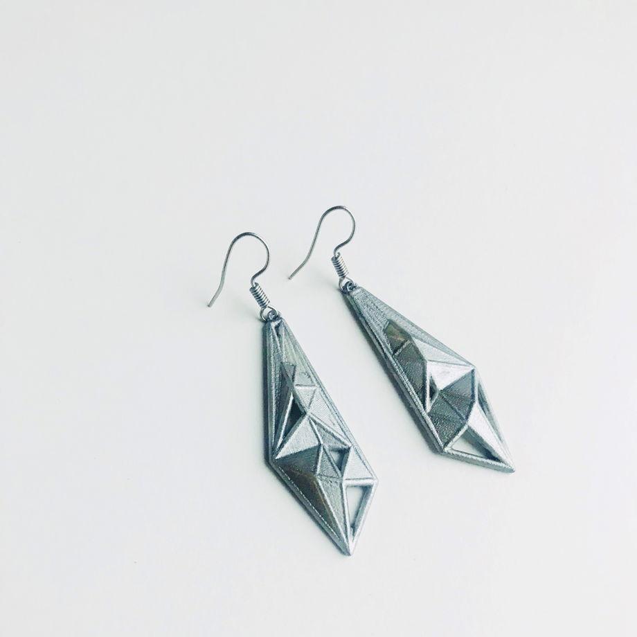 "Серьги ""Crystal"" цвет серебро"