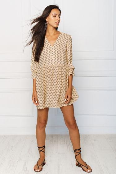 Платье мини в бохо стиле