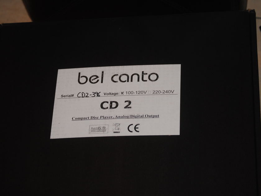 Bel canto CD 2 compact disc . player/digital out