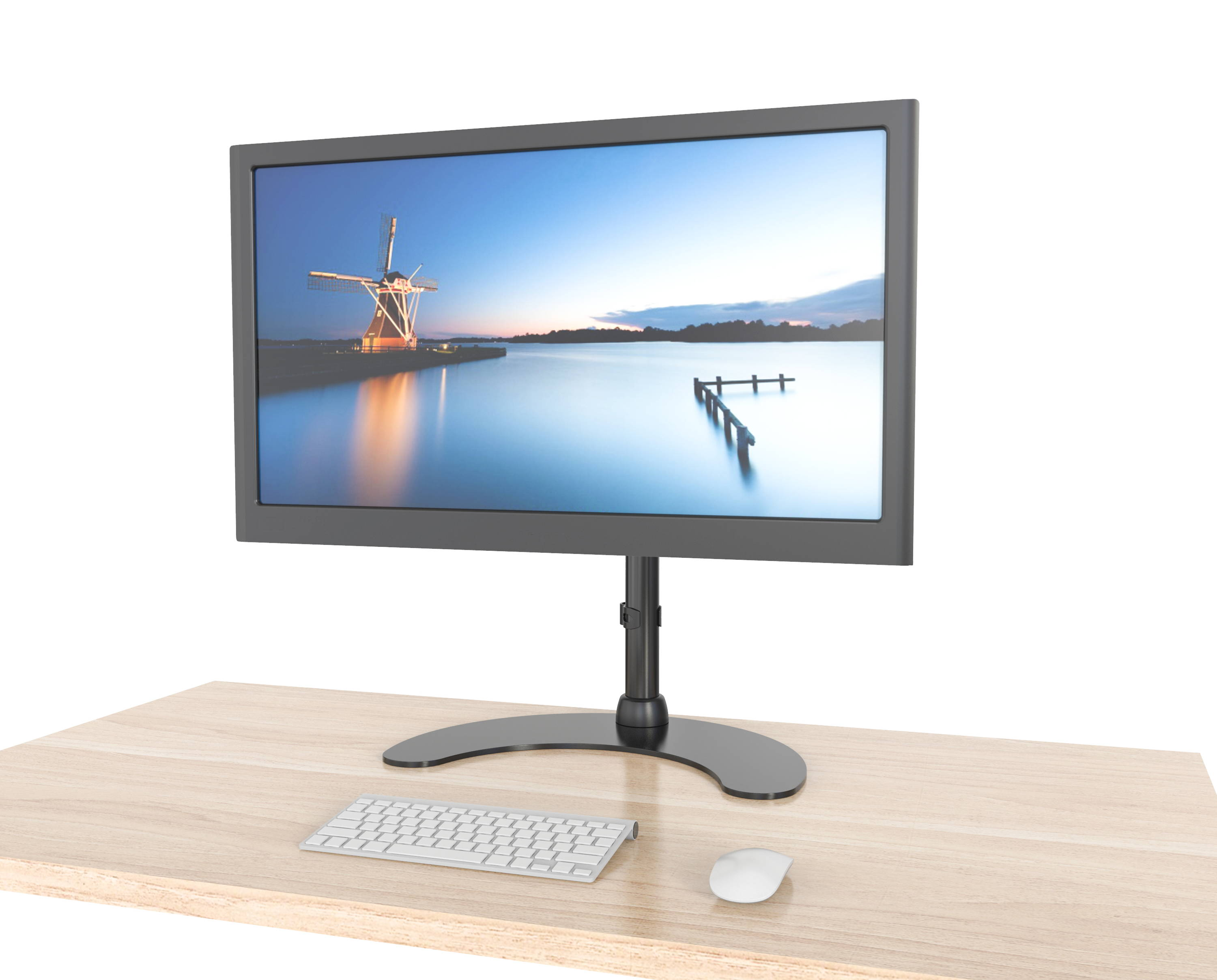 computer monitor arm for sit stand desk